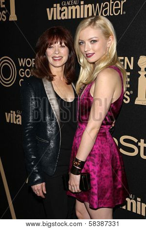 Frances Fisher and Francesca Eastwood at the Hollywood Foreign Press Association And InStyle Miss Golden Globe 2013 Party, Cecconi's, Los Angeles, CA 11-29-12