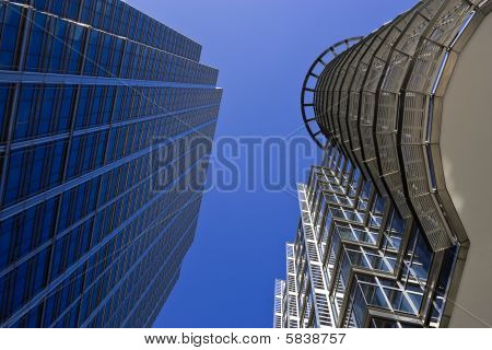 Skyscrapers Against A Blue Sky
