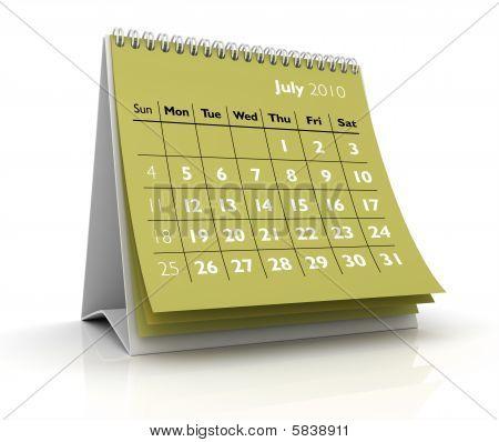 2010 Calendar. July
