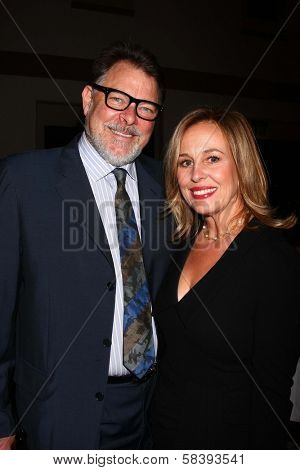 Jonathan Frakes, Genie Francis at The 14th Annual Women's Image Network WIN Awards, Paramount Studios, Hollywood, CA 12-12-12