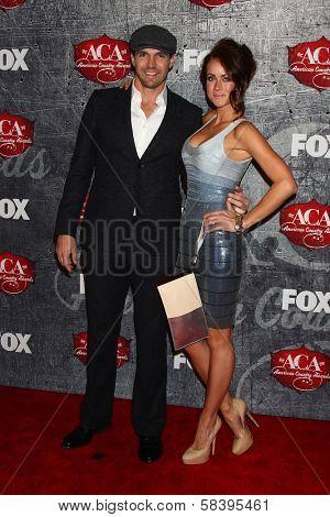 Barry Zito and Amber Seyer at the 2012 American Country Awards, Mandalay Bay, Las Vegas, NV 12-10-12