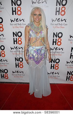 Kerli at the NOH8 Campaign 4th Anniversary Celebration, Avalon, Hollywood, 12-12-12