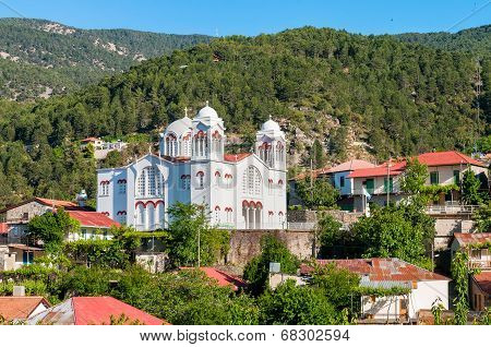 Church Of Holy Cross In Pedoulas Village. Cyprus