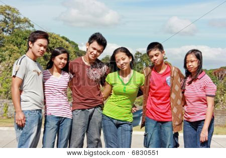Group of teenager