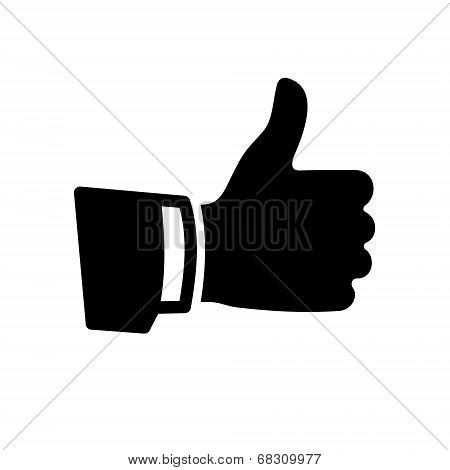 Vector Black Thumb Up Icon