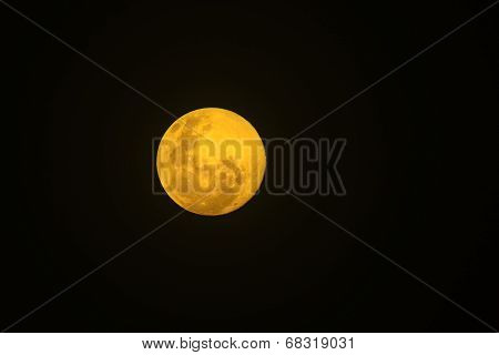 Full Moon - Nature Background in Color - Yellow