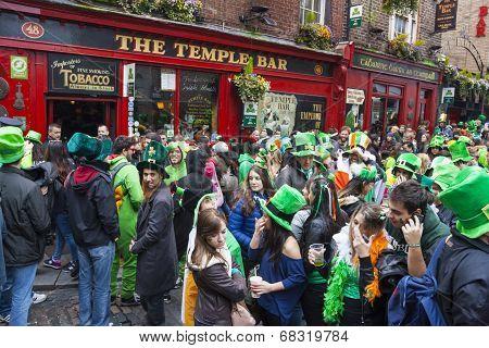 Dublin, Ireland - March 17: Saint Patrick's Day Parade In Dublin Ireland On March 17, 2014