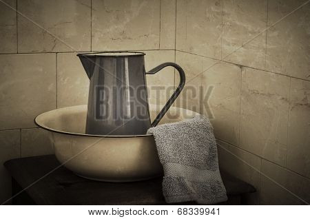 Wash Basin And Jug  - Retro