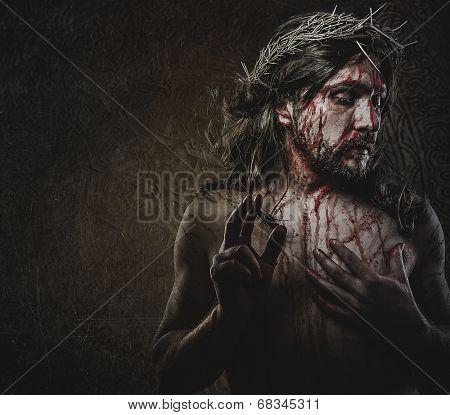 jesus, representation of Calvary, passion
