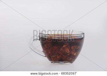 Iced tea isolated on white