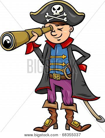 Pirate Boy Cartoon Illustration