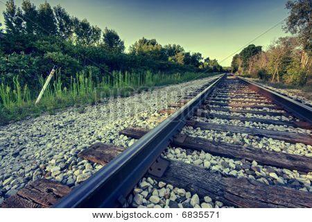 Angled Train Tracks