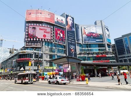 Dundas Square West During The Day