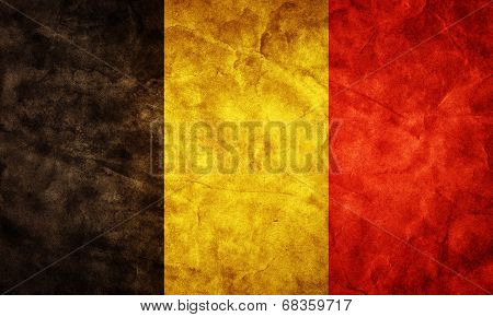 Belgium grunge flag. Vintage, retro style. High resolution, hd quality. Item from my grunge flags collection.
