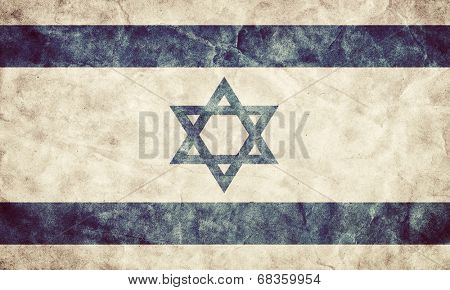 Israel grunge flag. Vintage, retro style. High resolution, hd quality. Item from my grunge flags collection.