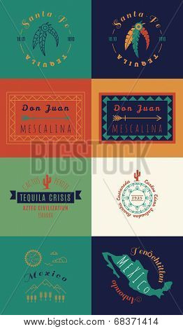 Mexican set Insignias   Day of the Dead (Spanish: Dia de Muertos)
