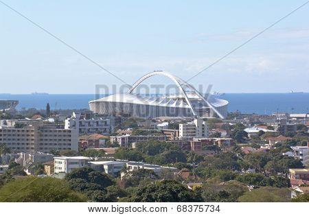 Moses Madhida Stadium Rising From Urban Landscape