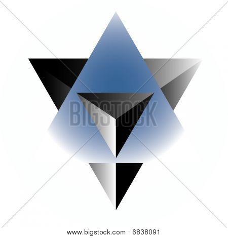 Star Op art vector
