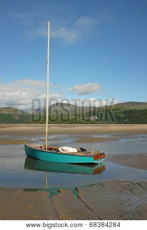 Turquoise Sail Dinghy.