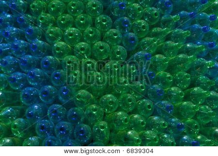 Green and Blue bottles.