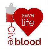 Give blood save life vector illustration - vector illustration poster
