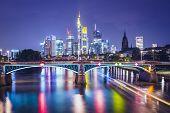 Frankfurt am Main, Germany Financial District skyline. poster