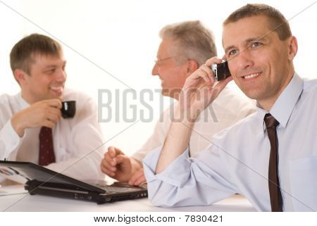 Businessmen Working Together