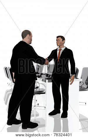 Agreement Between Businessmen In Office