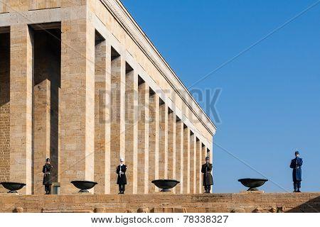 Ankara, Turkey - December 08, 2010: Ataturk Mausoleum, The Anitkabir, Tomb Of Mustafa Kemal Ataturk
