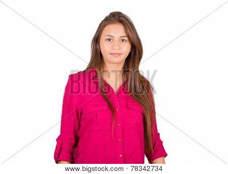 Serious Young Latin Girl