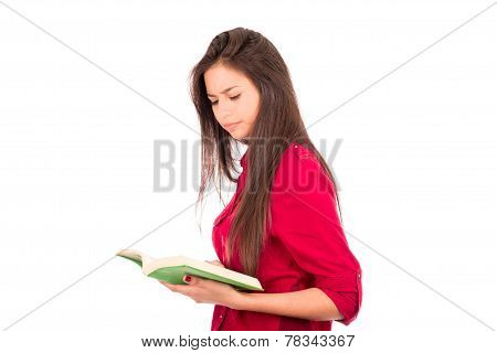 Young Latin Girl Reading Book