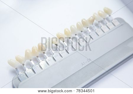 False Teeth Color Samples