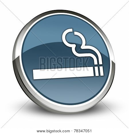 Icon Button Pictogram with Smoking Area symbol poster