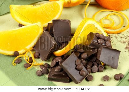 Chocolate Pieces And Orange