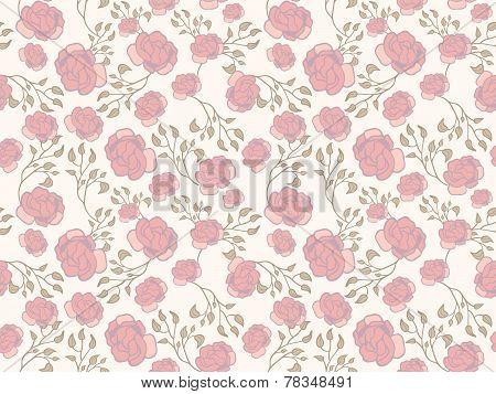 Peony Pattern on Cream
