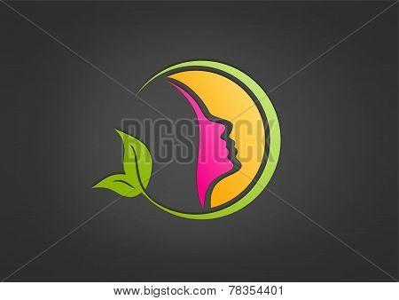 healthy woman logo,spa,cosmetic,care,fashion design