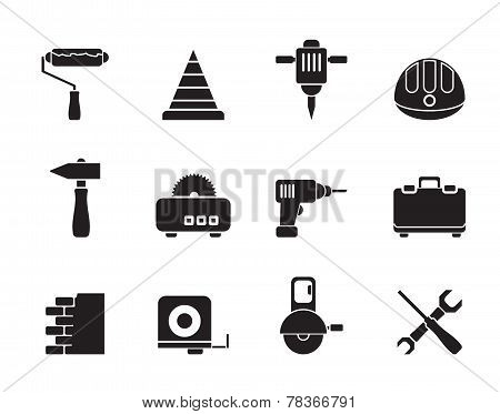 Silhouette Building and Construction Tools icons