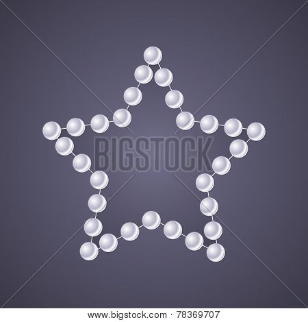 Pearl Star On Glow Gray Background