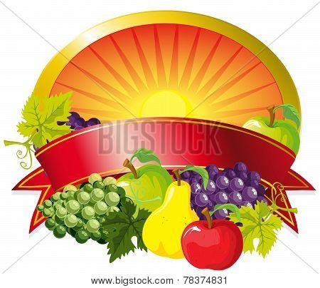 Red Fruit Label
