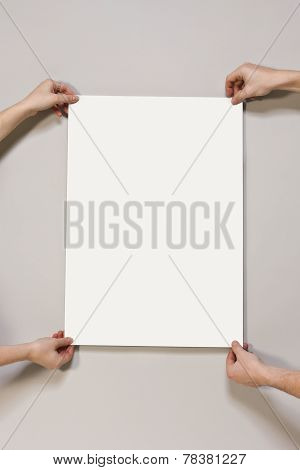 Blank Poster On Light Beige Colored Background