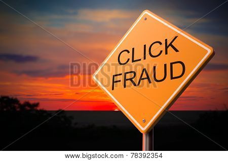 Click Fraud on Warning Road Sign