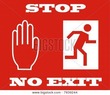 stop signal, no exit