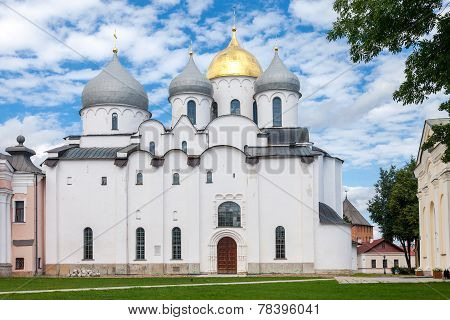 Saint Sophia Cathedral at Novgorod Kremlin. Cathedral was built between 1045 and 1050 poster
