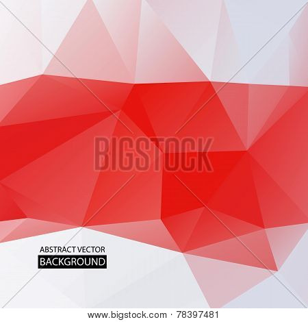 Abstract Vector Background Of Bright Red And White Triangles