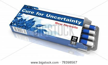 Cure for Uncertainty - Blister Pack Tablets.