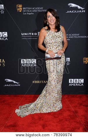 LOS ANGELES - OCT 30:  Patricia Heaton arrives to the BAFTA Jaguar Brittannia Awards 2014 on October 30, 2014 in Beverly Hills, CA