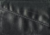Leather texture in black color in horizontal composition poster
