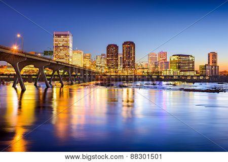 Richmond, Virginia, USA downtown city skyline.