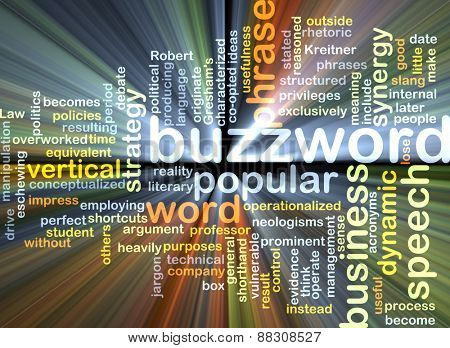Background text pattern concept wordcloud illustration of buzzword glowing light poster