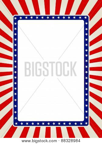 Patriotic Border Usa